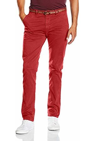 Scotch&Soda Men's Garment Dyed Chino in Stretch Cotton Quality Trousers - Rot (Brick 5A) 30W / 34L