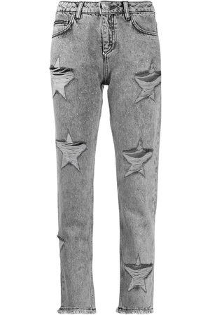 Philipp Plein Boyfriend Stars distressed jeans