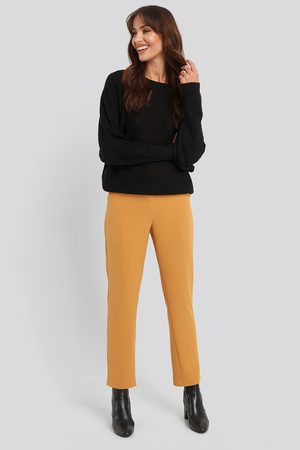 NA-KD High Waist Suit Trousers - Yellow