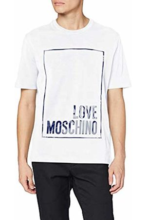 Love Moschino Men's Regular Fit Short Sleeve T-Shirt_Logo Box Print