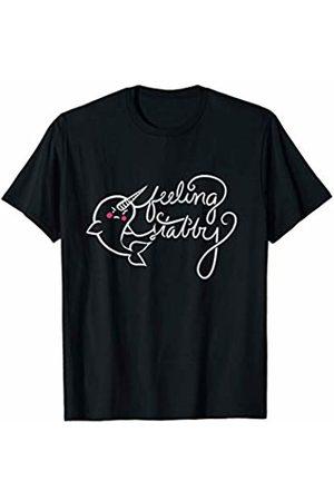 SnuggBubb Feeling stabby Narwhal humor T-Shirt