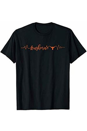 FanPrint Texas Longhorns Heartbeat - Apparel T-Shirt