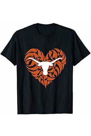 FanPrint Texas Longhorns Patterned Heart - Apparel T-Shirt