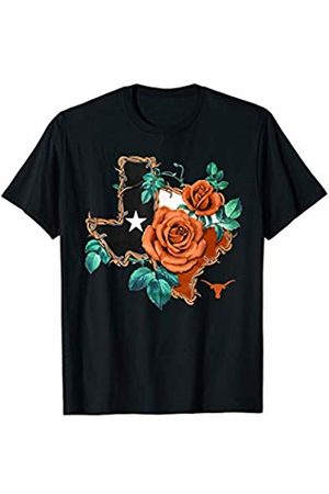 FanPrint Texas Longhorns Rose Texas State - Apparel T-Shirt