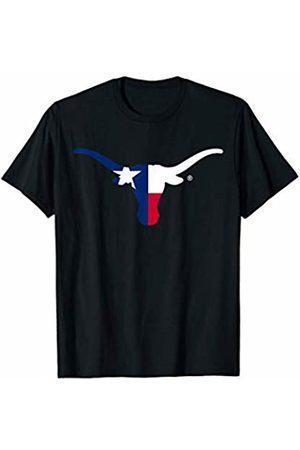 FanPrint Texas Longhorns State Flag - Apparel T-Shirt
