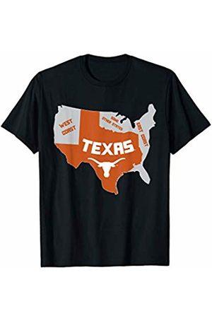 FanPrint Texas Longhorns Texas Map - Apparel T-Shirt