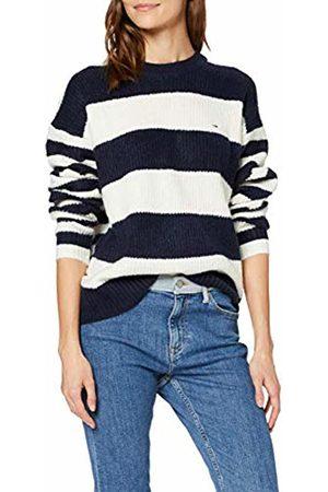 Tommy Hilfiger Women's Tjw Bold Stripe Crew Sweater Sweatshirt