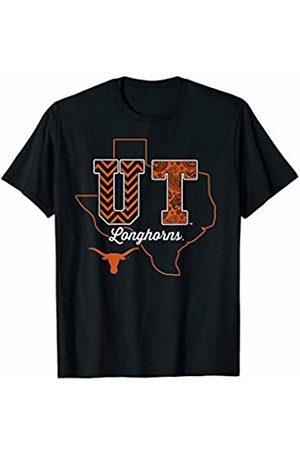 FanPrint Texas Longhorns Patterned Letters - Apparel T-Shirt