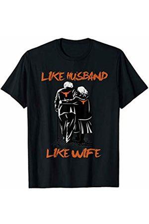 FanPrint Texas Longhorns Like Family - Granpa - Apparel T-Shirt