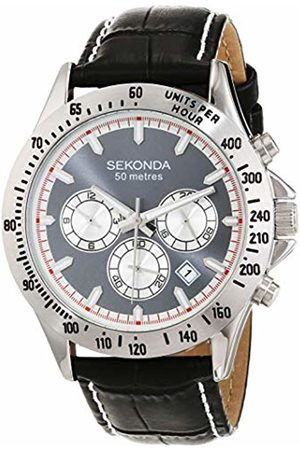 Sekonda Mens Analogue Classic Quartz Watch with Leather Strap 1724