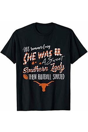 FanPrint Texas Longhorns Southern Lady - Checkered Pattern T-Shirt