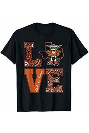 FanPrint Texas Longhorns Love State Mascot - Apparel T-Shirt