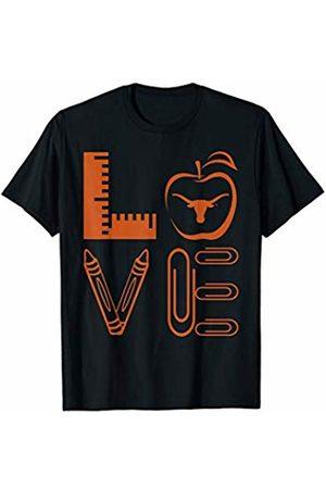 FanPrint Texas Longhorns Stacked Love - Apparel T-Shirt