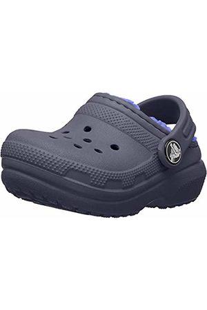 Crocs Unisex Classic Lined Clog Kids (Navy/Cerulean )