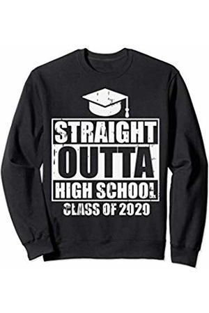 BoredKoalas College Graduation Clothes 2020 Gifts Straight Outta High School 2020 Graduating Girls Boys Gift Sweatshirt