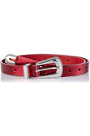 Guess Women's Blenda Leather Belt (Metallic Mtr)