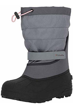 Columbia Girls' Childrens Powderbug Plus II Waterproof Hiking Shoes, ( Ash, Rosew 021)