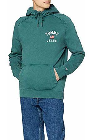 Tommy Hilfiger Men's TJM Washed Chest Graphic Hoodie Sports Jumper