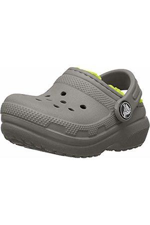 Crocs Unisex Classic Lined Clog Kids (Slate /Volt )