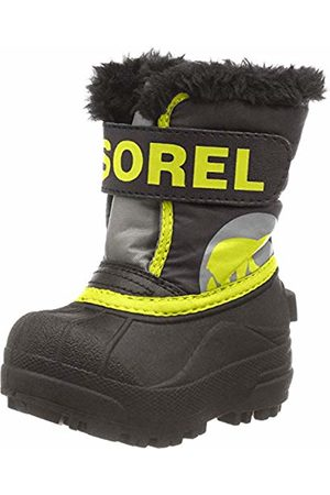 sorel Baby Unisex Boots, TODDLER SNOW COMMANDER, Dark / (Warning )