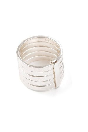 Jewel Tree London 5stack Ring Sterling