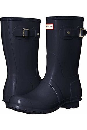 Hunter Women's original short wellington boots, (Navy)
