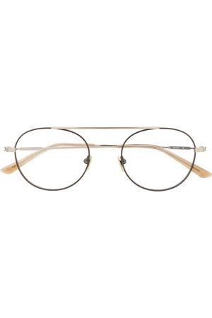 Calvin Klein Aviator-frame glasses - Metallic