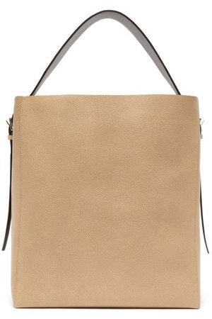 VALEXTRA Medium Grained-leather Tote Bag - Womens