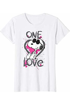 Peanuts Womens Snoopy Graphic One Love T-Shirt