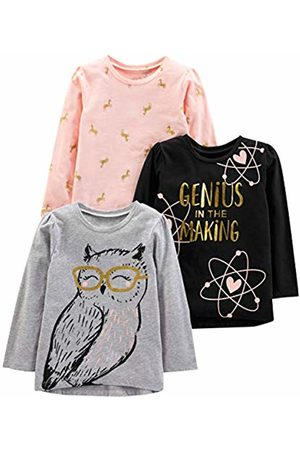Simple Joys by Carters boys 3 Pack Solid Pocket Long-Sleeve Tee Shirts T-Shirt Set