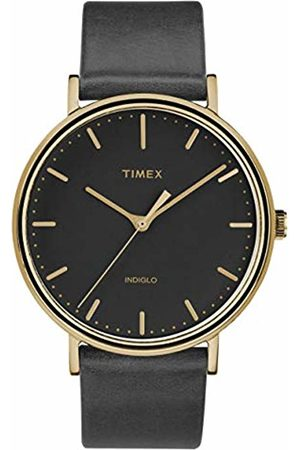 Timex Unisex Adult Analogue Classic Quartz Watch with Leather Strap TW2R26000