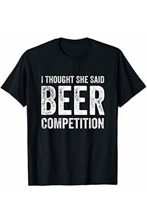 Cheer Dad Tshirt Gift I thought she said beer competition cheer dad T-Shirt