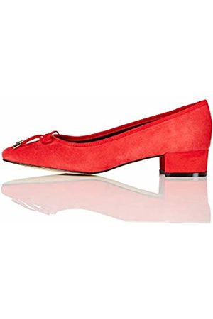 FIND Mini Heel Leather Ballet Closed-Toe Pumps, )