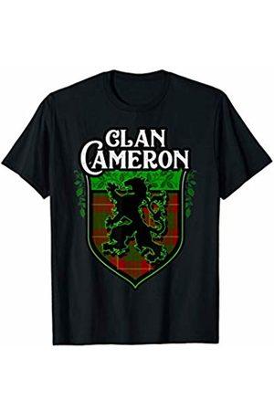 Highland Heraldry Apparel - Clan Cameron Clan Cameron Surname Scottish Tartan Lion Rampant Crest T-Shirt