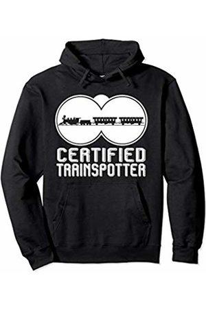 Railfan Rail Buff Trainspotter Gift Apparel Mens Apparel Railfan Train Design Gift for Him Trainspotter Pullover Hoodie