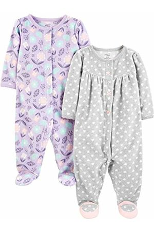 Simple Joys by Carter's 2-pack Fleece Footed Sleep and Play Sleepers, 0-3 Months