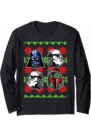 STAR WARS Bad Guys Holiday Pattern Long Sleeve T-Shirt