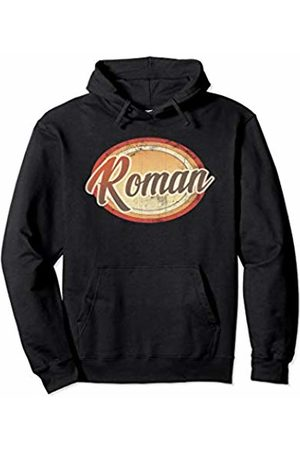 Graphic 365 Name Roman Vintage Funny Personalized Gift Pullover Hoodie