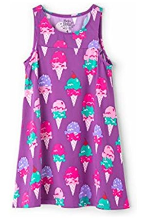 Hatley Girl's Swim Dress Cover-up Swimsuit, (Ice Cream Treats)