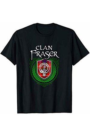 Highland Heraldry Apparel Clan Fraser Clan Fraser Surname Scottish Clan Tartan Shield Badge T-Shirt