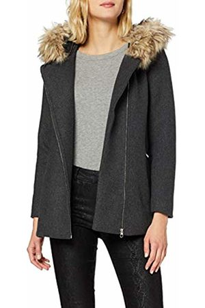 Vero Moda Women's Vmcollaryork Wool Jacket Coat, Dark Melange