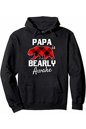 Rex Matching Family Xmas Outfit Set Men Women Kids Men Papa Bear Christmas Plaid Red Black Dad Pajamas PJs Pullover Hoodie