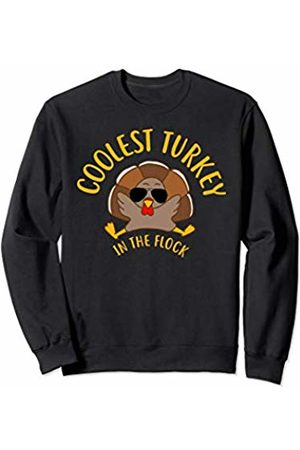 Tanya Turkey Coolest Turkey in the Flock Kids Thanksgiving Sweatshirt