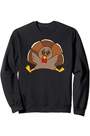 Tanya Turkey Cute Little Turkey Kids Thanksgiving Sweatshirt