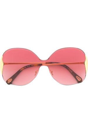 Chloé Eyewear Two-tone oversized frame sunglasses