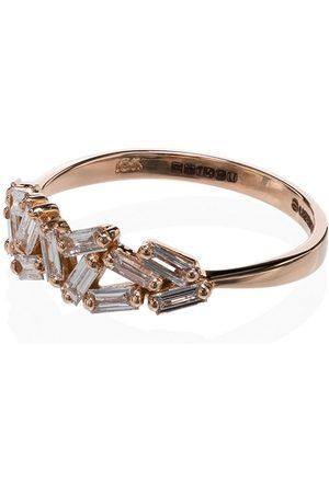 Suzanne Kalan Chevron diamond-embellished ring - ROSE