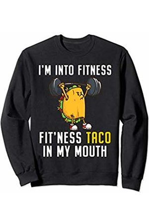 I Love Tacos and Fitness Co. Funny Tacos Powerlifting Weightlifting Gym Workout Girls Sweatshirt
