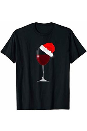 Christmas & New Year Gifts Funny Christmas Wine Cool Drink Glass Santa Hat Women Men T T-Shirt