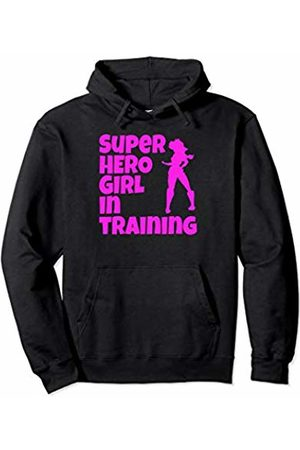 Funny And Witty Gym Woman's And Girls Gym Clothing Super Hero Girl In Training Pink Print Sexy Girl Workout Gym Pullover Hoodie