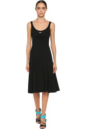 OFF-WHITE Stretch Techno Jersey Midi Dress